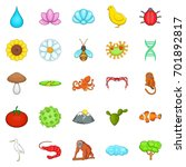 environment icons set. cartoon... | Shutterstock .eps vector #701892817