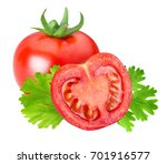 red tomato with parsley... | Shutterstock . vector #701916577
