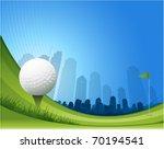 golf background illustration | Shutterstock .eps vector #70194541