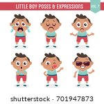 character design set of a cute... | Shutterstock .eps vector #701947873