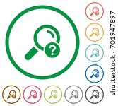 unknown search flat color icons ...   Shutterstock .eps vector #701947897