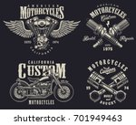 set of vintage custom... | Shutterstock . vector #701949463