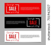 sale banners set with special... | Shutterstock .eps vector #701962027