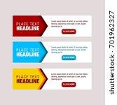 vector design banner.modern web ... | Shutterstock .eps vector #701962327