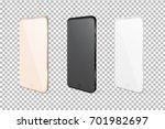 realistic mobile phones.... | Shutterstock .eps vector #701982697