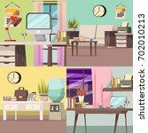 four squares office orthogonal... | Shutterstock .eps vector #702010213