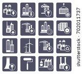 industry icon set vector | Shutterstock .eps vector #702011737