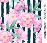 watercolor seamless pattern... | Shutterstock . vector #702016873