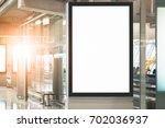 blank advertising billboard at... | Shutterstock . vector #702036937