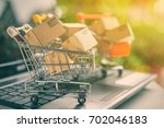 freight or shipping service for ... | Shutterstock . vector #702046183