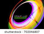 circular colors geometric shape ... | Shutterstock .eps vector #702046807