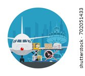 icon air cargo services and... | Shutterstock . vector #702051433