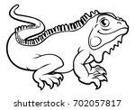 An Iguana Lizard Cartoon...