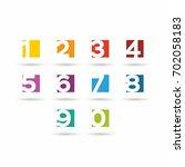 numbers set. vector... | Shutterstock .eps vector #702058183