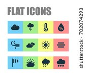 air icons set. collection of...   Shutterstock .eps vector #702074293