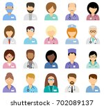 medical avatars  team of... | Shutterstock .eps vector #702089137