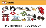 japan travel destination... | Shutterstock .eps vector #702103807