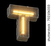 futuristic light font. 3d... | Shutterstock . vector #702106333