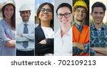collage professions  gardener ... | Shutterstock . vector #702109213