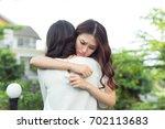friendship help support.... | Shutterstock . vector #702113683
