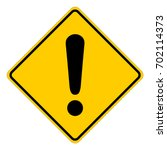 yellow square warning sign with