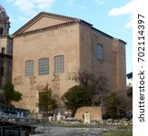 Small photo of Curia Julia, ancient roman Senate House in the Roman Forum, Rome, Italy