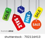 template sale banner. tag sale. ... | Shutterstock .eps vector #702116413
