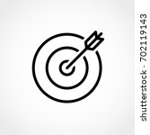 target and arrow icon isolated... | Shutterstock .eps vector #702119143