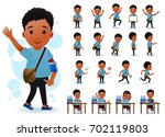 ready to use little black... | Shutterstock .eps vector #702119803