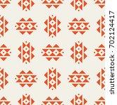 autumn tribal retro vector... | Shutterstock .eps vector #702124417