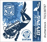 diving club vector illustration ... | Shutterstock .eps vector #702138787