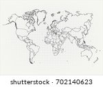 the political map of the world... | Shutterstock .eps vector #702140623