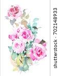 bunch of hand painted...   Shutterstock . vector #702148933