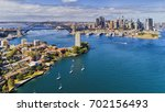 elevated wide view of sydney... | Shutterstock . vector #702156493