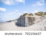 bunker from world war 2 burried ... | Shutterstock . vector #702156637