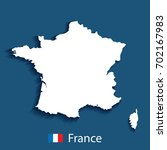 map of france. vector... | Shutterstock .eps vector #702167983
