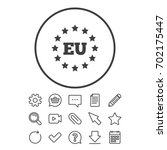 european union icon. eu stars... | Shutterstock .eps vector #702175447