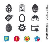 easter eggs icons. circles and...