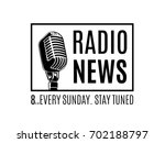 vector radio news logo with...