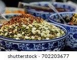 chinese street food in xian... | Shutterstock . vector #702203677
