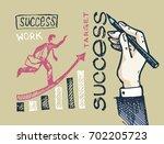 business vector concept... | Shutterstock .eps vector #702205723