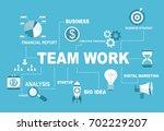 team work illustartion concept. ...   Shutterstock .eps vector #702229207