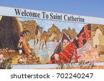 colorful entrance to saint... | Shutterstock . vector #702240247