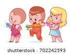 set of cute characters. little... | Shutterstock .eps vector #702242593