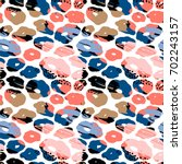 abstract floral seamless... | Shutterstock .eps vector #702243157