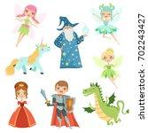 fairytale characters set in... | Shutterstock .eps vector #702243427