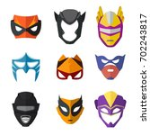 different superheroes masks for ... | Shutterstock .eps vector #702243817