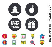 happy new year icon. christmas... | Shutterstock .eps vector #702257827