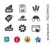 natural fresh bio food icons....