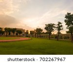 Small photo of evening time at school yard